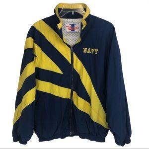 Rare Vintage 90s Navy Windbreaker Jacket